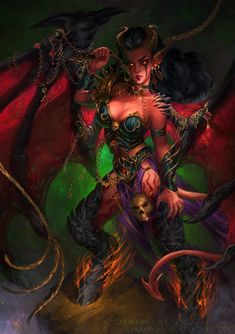 Queen of Pain (Demon Girl) by DenaHelmi.deviantart.com on @DeviantArt