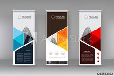 Vertical banner stand template design. can use for brochure flyer, covers ,infographics ,vector abstract geometric background, modern x-banner and flag-banner advertising design element - Buy this stock vector and explore similar vectors at Adobe Stock Banner Stands, Flag Banners, Geometric Background, Banner Template, Advertising Design, Infographics, Vectors, Adobe, Web Design