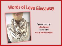Emily Dickinson Infinity Scarf #Giveaway  http://www.crazyaboutdeals.com/words-of-love-giveaway-infinity-scarf