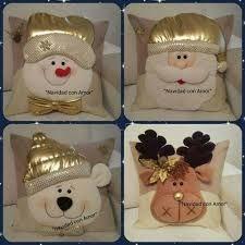Risultati immagini per cojines para navidad con moldes