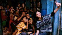 Kanika Kapoor with #pratham #children