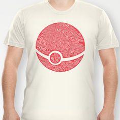 Pokemon Typography T-shirt by Kody Christian - $18.00
