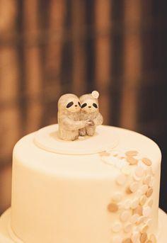 Casar é assim...: Topo de bolo: Bicho preguiça