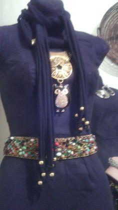 Hermoso collar en tela con dije mandala y buho, creado por BeYou, BeChic