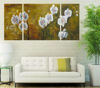 Pf3136 impresso 3 peças painel de pintura a óleo na parede lona de arte quadros para decoração de casa belas flores abstratas como presentes originais