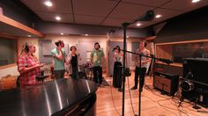 Group vocals in studio A at Clear Track