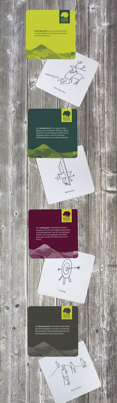 Getränkeuntersetzer – verschiedene Orte im Naturpark, witzig illustriert und erklärt Beverage coasters with joyful illustrations dhso.at #Getränkeuntersetzer #BeverageCoaster