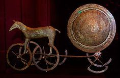 The Trundholm sun chariot (Danish: Solvognen), is a late Nordic Bronze Age artifact discovered in Denmark.