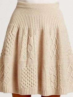34 ideas for crochet skirt outfit cable knit Crochet Skirt Outfit, Crochet Skirts, Knit Skirt, Crochet Clothes, Knit Dress, Sweater Skirt, Knit Crochet, Cable Knitting, Knitting Stitches