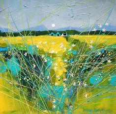 wonderful Scottish painter: Deborah PHILLIPS-Fresh Fields... a lovely painterly technique!!!!!