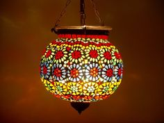 Colourful Mosaic Lantern