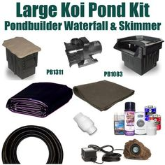 """20 x 25 Large Koi Pond Kit 5,200 GPH Pump Pondbulder 8"""" Crystal Skimmer & 22"""" Elite Pondbuilder Waterfall LP2 by Patriot. $1307.50. 20 x 25 EPDM LifeGuard Liner (lifetime warranty: 25 years) and 500 Square Feet of Underlayment, Pondbulder 8"""" Crystal Skimmer PB1311, 22"""" Elite Pondbuilder Waterfall PB1083, MS-5,200 GPH Monsoon Hybrid Drive Pump. Ships Truck Freight - Additional Carrier Charges May Apply. Liftgate Service is Not Included. Contact Carrier For Liftgate Service W..."""