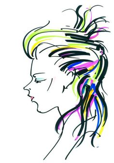 Illustration of Decibel #hair #trendvision