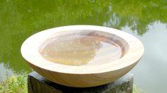 Acorn Natural Stone Bowl/Birdbath Feeder On Natural Slate Surmi Plinth