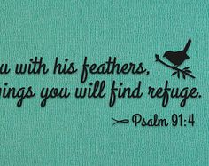 Psalm 91:4-christian keyring-He will cover you by ThisWordsForYou