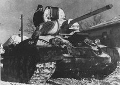 Soviet medium tank T-34/76. Surroundings of Kharkov. 1942. Russian Tanks of World War II.