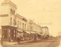 1873 photograph of Main Street, Oshkosh, WI (Oshkosh Public Museum)