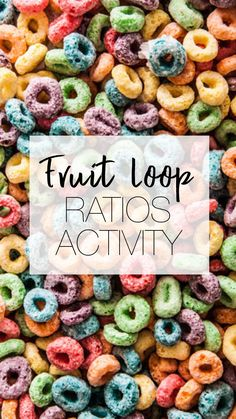 Ratios Activity for Middle School Math Classroom. Use Cereal to Teach Middle School Students Ratios. Fruit Loops make for an inexpensive activity to teach students ratios. Algebra Activities, Math Resources, Teaching Math, Math Manipulatives, Steam Activities, Teaching Ideas, Math Board Games, Math Games, Fun Math