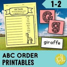 ABC Order made easy! Practice alphabetical order while learning about animals with this ABC order packet!Here's an activity pack with printables and flashcards to reinforce and assess your students' mastery of alphabetical order to the first and second letter. Included in this animal-themed alphabet...