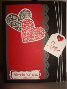 Stampin Up Valentine Cards | Valentine's card with Stampin' up! products. | cards/pages