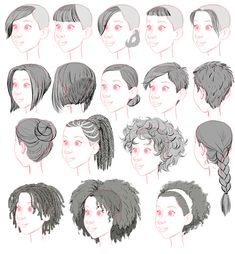 tealin:  One of my other jobs on BH6 was to stock the library of hairstyles for crowd people.  Here's a sampling of ladies' styles, dropped on the generic head.