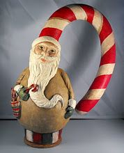 Candy Cane Santa by Susan Vanderhoek