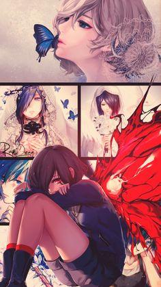 also - My Manga Ken Anime, Manga Anime, Anime In, Fan Art Anime, Anime Artwork, Anime Shows, Tokyo Ghoul Uta, Image Tokyo Ghoul, Touka Kirishima