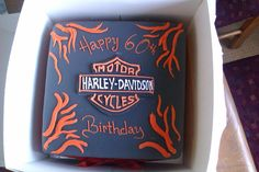 Birthday cake for dad the biker.