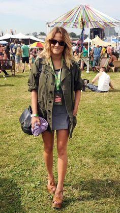 Caroline Flack in Missguided Noemie Jacket