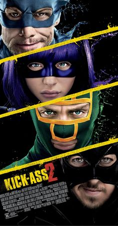 Directed by Jeff Wadlow.  With Aaron Taylor-Johnson, Chloë Grace Moretz, Christopher Mintz-Plasse, Jim Carrey. The costumed high-school hero Kick-Ass joins with a group of normal citizens who have been inspired to fight crime in costume. Meanwhile, the Red Mist plots an act of revenge that will affect everyone Kick-Ass knows.