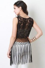 Divine Spell Top with awesome fringe! it'd totally pair this with a high waisted bodycon skirt #urbanog