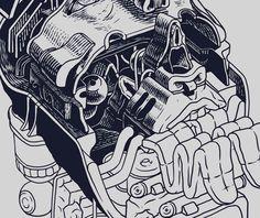Corpus Dream / Art print. by Smithe, via Behance