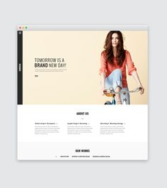 83 Oranges Design Co. | Life style Website Template PSD