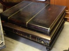 Nice Maitland Smith Furniture Vintage Leather Book Coffee Table
