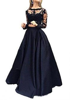 online shopping for Little Star Women s 2 Piece Prom Dresses Long Sleeve Evening  Party Ball Gowns from top store. See new offer for Little Star Women s 2 ... c7bb784f6f15