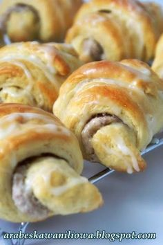 Danishes, Breakfast Menu, Polish Recipes, Sweet Bread, Doughnut, Donuts, Sausage, Cooking Recipes, Sweets