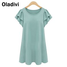 Find More T-Shirts Information about XXXXXL Plus Size Summer Blouse 2015 Vintage Women Clothing Casual Shirts Butterfly Sleeves Long Shirt Tops Tees Girl Tshirt 5XL,High Quality shirt bike,China shirt hoodie Suppliers, Cheap tshirt press from Oladivi Group - Minabell Fashion Store on Aliexpress.com