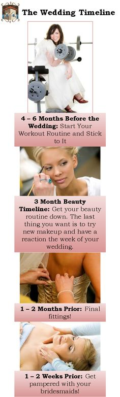 The Timeline for Your Wedding - Beauty