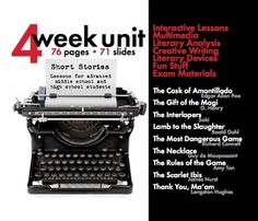 Short Story Unit Plan, FOUR FULL WEEKS of Dynamic Lessons