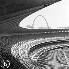 Beautiful view of the interior of Busch II from 1966. #cardsarchives