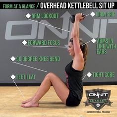 Form at a Glance: Overhead Kettlebell Sit Up