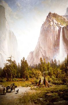 Thomas Hill  - Yosemite Valley and Bridalveil Fall