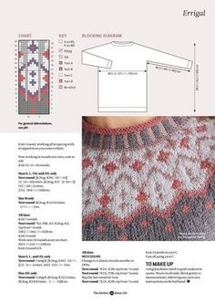 Ideas knitting stitches free fair isles for 2019 Fair Isle Knitting Patterns, Jumper Patterns, Knitting Charts, Sweater Knitting Patterns, Knitting Stitches, Knitting Designs, Knit Patterns, Free Knitting, Baby Knitting