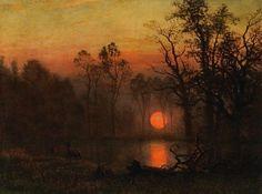 Albert Bierstadt  Sunset over the Plains, 1887