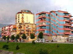 Tirana's Colorful Facade – Tirana, Albania - Atlas Obscura