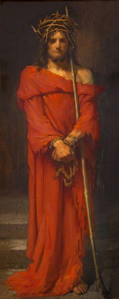 Sacred Gifts: Frans Schwartz - The Mocking of Christ Life Of Christ, Christ The King, Catholic Art, Religious Art, Roman Catholic, Jesus E Maria, Jesus Face, Biblical Art, Jesus Pictures