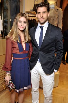 It-girl Olivia Palermo en model Johannes Huebl Olivia Palermo Outfit, Olivia Palermo Stil, Cute Celebrity Couples, Celebrity Style, Star Fashion, Look Fashion, Fashion Details, Street Fashion, Tommy Store