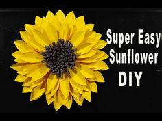 DIY PAPER LARGE SUNFLOWER / TUTORIAL / PAPER CRAFT - YouTube