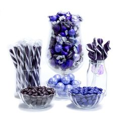 Purple Candy Buffet Ideas. Huge selection of assorted candy types, colors & containers - perfect for planning your candy buffet.