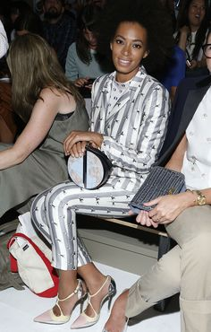 #NYFW day 2: Solange Knowles front row at Suno. I want her purse